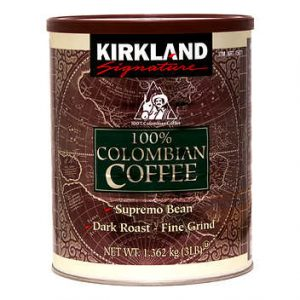 kirkland columbian coffee